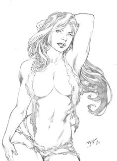Ed Benes X Men Rogue drawing, in Rod Lees Ed Benes cover art, commissions, and pages gallery. Comic Art Gallery Room - 998205
