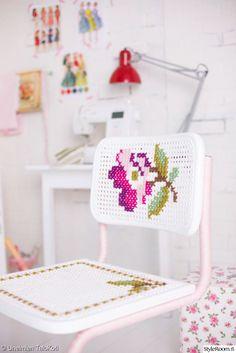 ompelu,työtuoli,tuunaus,maalaisromanttinen,maalaus,koriste,Tee itse - DIY,työhuone