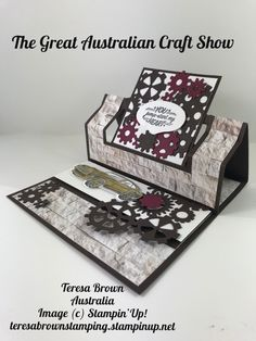 Easel Card for your man. This is one of the cards i shared at the great australian craft show. Easel Cards, Stampin Up Cards, Brown, Crafts, Manualidades, Brown Colors, Craft, Chocolates, Crafting
