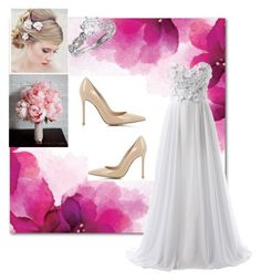 """""""Wedding #2"""" by jennisa-penner on Polyvore featuring Gianvito Rossi, women's clothing, women, female, woman, misses and juniors"""