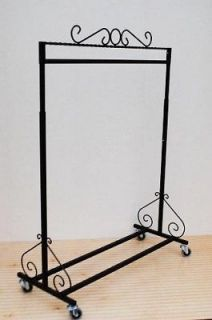 Strong & Stable Twin Bottom Clothing Rack Garment Rack Double Rolling Wheels in Business & Industrial, Retail & Services, Racks & Fixtures Retail Clothing Racks, Clothing Displays, Clothes Drying Racks, Clothes Rail, Bar Clothes, Iron Furniture, Steel Furniture, Rolling Rack, Boutique Decor