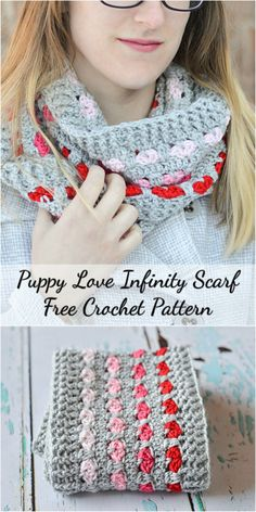 Don't let this adorable hearts fool you! This pretty scarf is easy to make and fun and cozy to wear. #crochet #fashion #stitch