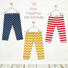 Easy Leggings - BABY sizes 0 to 24 months - by My Childhood Treasures | YouCanMakeThis.com