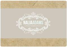 Custom Logo  -  PreDesigned PreMade Logo Design NALIA Vintage Logo. $150.00, via Etsy.