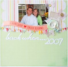 Back When ... - by Jenny Chesnick using Dear Lizzy Neapolitan from American Crafts.
