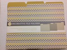 amazoncom cr gibson decorative file folders pack of 18 office