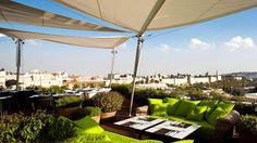 The Rooftop Restaurant: Mamilla Hotel, Jerusalem.