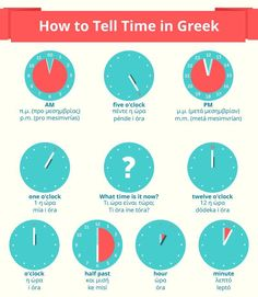 How to tell the time in Greek Greek Phrases, Greek Words, Romanian Language, Zorba The Greek, Hebrew Prayers, Korean Lessons, Greek Alphabet, Gernal Knowledge, Never Stop Learning