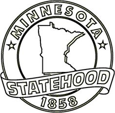 Minnesota State  Coloring page