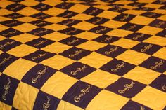 Mallory's Full Size Crown Royal Quilt Blanket by LuluBelleQuilts on Etsy