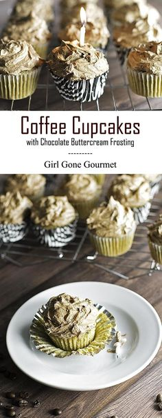 Coffee Cupcakes with Chocolate Buttercream
