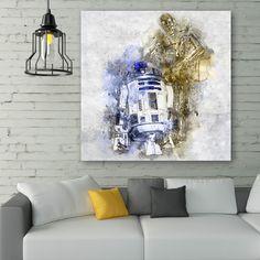Tableau déco R2d2 et Sispo - Star Wars