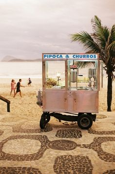 Food cart on the beach including churros!!! #SunSandSea