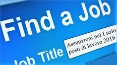 #Assunzioni e #lavoro per #infermieri e #medici nel #Lazio