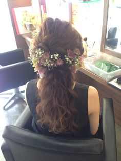 ウエディングヘア Dress Hairstyles, Bride Hairstyles, Pretty Hairstyles, Bridal Hair Images, Bridal Hair Inspiration, Hair Arrange, Love Your Hair, Headpiece Wedding, Hair Designs