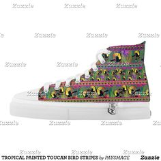Purchase a wonderful pair of Bird sneakers & athletic shoes from Zazzle. Interchangeable covers allow you to have different shoes everyday of the week! Custom Sneakers, On Shoes, Designer Shoes, Converse Chuck Taylor, High Tops, High Top Sneakers, Your Style, Stripes, Pairs