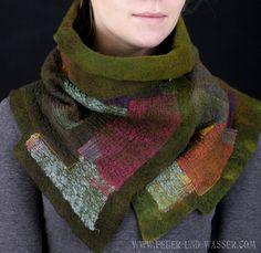 Nuno felted scarves Felted Scarf Felt Cowl by FeuerUndWasser, $135.00