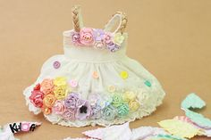 Yosd Rainbow Flowers dress by kuloft on Etsy