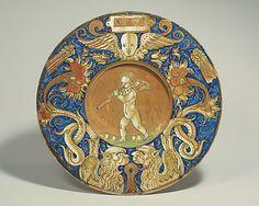 Plate (tondino) ~ ca.1530-1535 ~ Italian ~ Gubbio ~ Maiolica (tin-glazed earthenware) ~  Robert Lehman Collection ~ Metropolitan Museum of Art