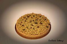 Crostata ai pistacchi - Le mie 24 ore dolci, G. Fusto  Pasta frolla alle mandorle Biscotto Emmanuele di Frédéric Bau Streusel al pistacchio Pistacchi