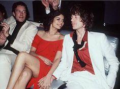 Halston, Bianca and Mick Jagger at Studio 54