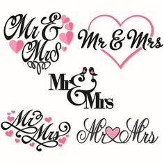 Mr. and Mrs.Wedding Cuttable Designs