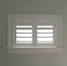 Beautiful Basement Window Shutters