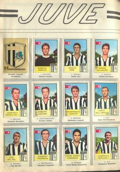 Juventus team stickers in Retro Football, Vintage Football, Juventus Team, Football Stickers, Family Goals, Nostalgia, Soccer, Baseball Cards, Bowie