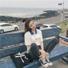 รูปภาพ asia, ulzzang, and asian model Korea Fashion, Asian Fashion, New Fashion, Trendy Fashion, Girl Fashion, Fashion Outfits, Grunge Style, Soft Grunge, Looks Instagram