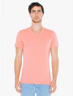 50/1 Cotton V-Neck T-Shirt