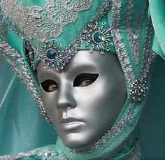 Venice Carnival Mask, turquoise