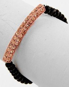 Rose Gold Black Stretch $12
