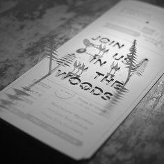 Christine + Ian's DIY Woodland Wedding Invitations Invitation Pop Up, Wood Invitation, Laser Cut Invitation, Wedding Invitation Sets, Invitation Design, Invitation Ideas, Woodland Wedding Invitations, Creative Wedding Invitations, Wedding Stationery