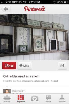 Ladder shelf - Cute idea for cowboy baby nursery