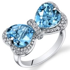 Peora.com - 14 Kt White Gold 5.6 cts Swiss Blue Topaz and Diamond Ring R61616, $739.99  reaaaal cute but only a size 7
