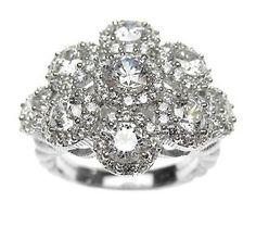 Judith Ripka Sterling Diamonique Ring