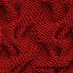 Wrong side of knitting stitch pattern – Cable 7