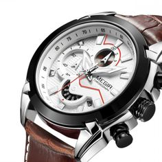 5483ce92f22 Military Sport Watch Men Top Brand Luxury Leather Army Quartz Watches Clock  Men Creative Chronograph Relogio Masculino