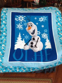 Disney Frozen Olaf Quilt by LadyJayneQuilting on Etsy