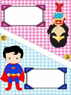 Superhero Baby Shower, Superhero Party, Folder Decorado, Behavior Rewards, School Frame, School Decorations, Binder Covers, Toot, Baby Party