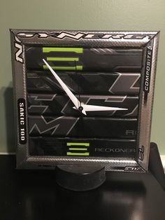 A personal favorite from my Etsy shop https://www.etsy.com/listing/286153715/hockey-stick-desk-clock