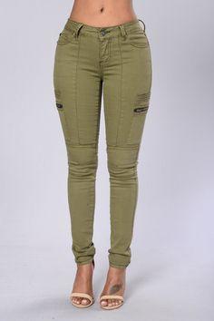 Walk The Line Pants - Olive