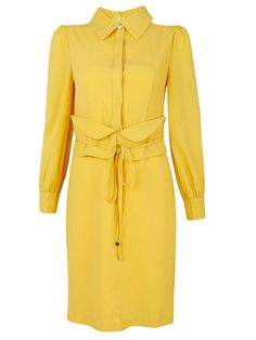 #Yellow #Vintage #Collar #Dress Ready for Fall