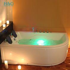Whirlpool Spa Jacuzzi Corner Bath Shower Massage 2 Person Double Bathtub  N:5153Lu2026