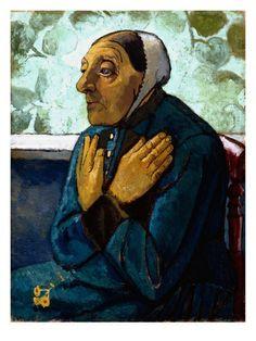 Old Peasant Woman, C.1905 (Oil on Canvas) par Paula Modersohn-Becker