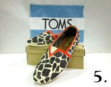 Decorate TOMS shoes and sell them on ebay to contribute to your favorite charity!