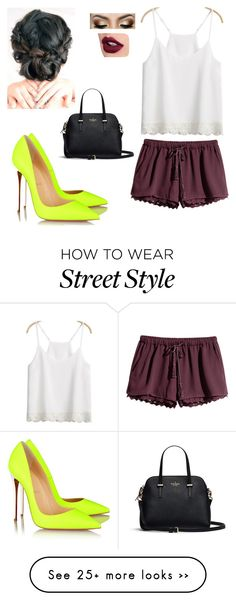 """Street Style"" by emmazeigler on Polyvore featuring Christian Louboutin and H&M"