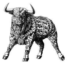 Raging Bull Art Print http://society6.com/product/raging-bull-3x2_print?curator=debbieoverstreet