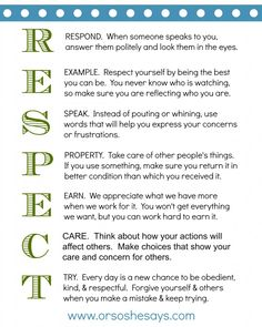 1000 Ideas About Respect Activities On Pinterest Character Counts Respect