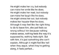 Exactly, it's just right when were together.